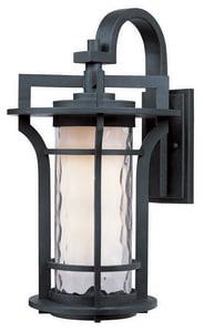 Maxim Oakville 8 in. 100W 1-Light Medium E-26 Incandescent Wall Lantern in Black Oxide M30484WGBO