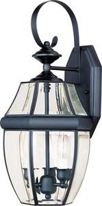 Maxim Lighting International South Park 19 x 9-1/2 in. 40W 3-Light Outdoor Wall Lantern in Black M4191CLBK