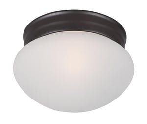 Maxim Lighting International Essentials 60W 1-Light Medium E-26 Incandescent Ceiling Light with Frosted Glass in Oil Rubbed Bronze M5884FTOI