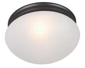 Maxim Lighting International Essentials 60W 2-Light Flushmount Ceiling Fixture in Oil Rubbed Bronze M5885FTOI