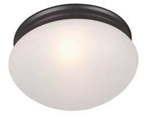 Maxim Essentials 60W 2-Light Flushmount Ceiling Fixture in Oil Rubbed Bronze M5885FTOI