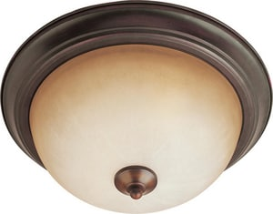 Maxim Lighting International 11-1/2 in. 2-Light Flushmount in Oil Rubbed Bronze with Wilshire Glass Shade M5849WSOI