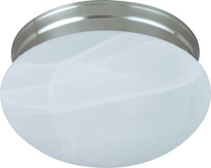 Maxim Lighting International 9 in. 2-Light Flushmount with Marble Glass Shade M5885MR
