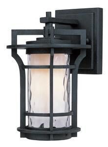 Maxim Oakville 9-1/2 in 13W 1-Light Compact Fluorescent GU24 Outdoor Wall Lantern in Black Oxide M85782WGBO