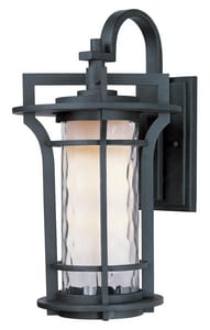 Maxim Oakville 17-1/2 in 18W 1-Light Compact Fluorescent GU24 Outdoor Wall Lantern in Black Oxide M85785WGBO
