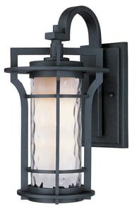 Maxim Oakville 21 in 26W 1-Light Compact Fluorescent GU24 Outdoor Wall Lantern in Black Oxide M85786WGBO