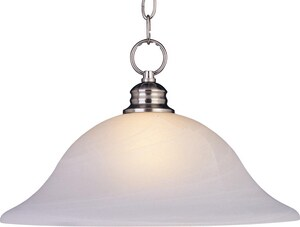 Maxim Lighting International Essentials 11 in. 100 W 1-Light Medium Pendant in Satin Nickel M91076MRSN