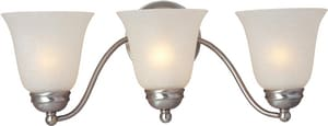 Maxim Lighting International Basix 39W 3-Light Fluorescent Vanity Fixture in Satin Nickel M85133ICSN