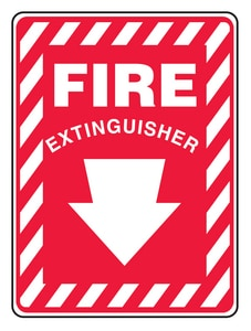 Accuform 14 in. Safety Sign Fire Extinguisher AMFXG908VP