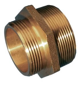 Service Brass Fittings 2-1/2 in. NST x 2 in. MNPT Brass Double Male Hex Nipple Lead Free S0760M250AM200BNL at Pollardwater
