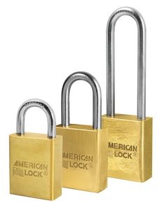 Master Lock 1-1/2 x 1-1/8 in. Keyed Alike Padlock in Gold and Silver MA40KA at Pollardwater