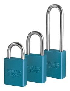 Master Lock 1-1/2 x 3 in. Padlock in Blue Keyed Alike M1107KABLUE at Pollardwater