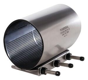Powerseal Pipeline Products Model 3121AS 12 x 4 in. Stainless Steel Repair Clamp (4.95 - 5.35 in.) P3121AS4C12