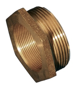 Dixon Valve & Coupling 2-1/2 in. FNST x 3 in. MNST Brass Hydrant Adapter Pin Lug DHA2530F at Pollardwater
