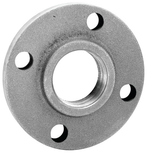 4 in. Flanged x FNPT 125# Galvanized Cast Iron Threaded Companion Flange IGCICFP at Pollardwater