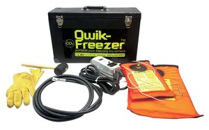 COB Industries Qwik-Freezer™ Cylinder Valve Adapter for COB Industries QF 1500, QF 2000, QF 2200, QF 3000, QF 4000, QF 4100, QF 6000, QF 6100, QF 8000 and QF 8100 Pipe Freezings CQF801 at Pollardwater