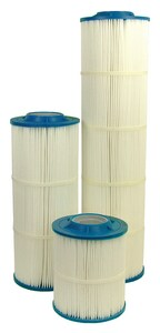 Harmsco Hurricane® 19-1/2 in. 50 Micron Filter Cartridge in White and Blue HHC9050 at Pollardwater