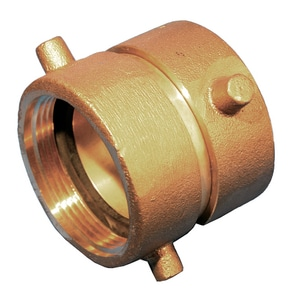 Dixon Valve & Coupling 2-1/2 in. Brass Double Female Swivel Pin Lug Adapter NST DDFP2525F
