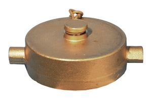 Dixon Valve & Coupling 6 in. Brass Pin Lug Cap with Chain NST DFC600F at Pollardwater