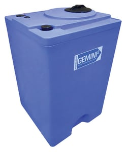 Peabody Engineering and Supply Gemini 10 gal Polyethylene Dual Containment Tank Assembly in Blue P0129816 at Pollardwater