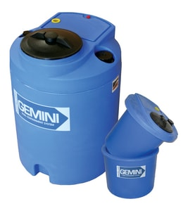 Peabody Engineering and Supply Gemini 48 in. 320 gal Polyethylene Dual Containment Tank Assembly in Blue P0114873