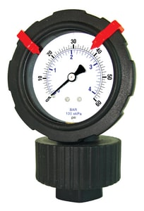 Engineered Specialty Products 2-1/2 in. 15 psi Gauge with Diaphragm Seal for Mildly Corrosive Applications E701LDS252