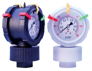 2-1/2 in. 160 psi 1/2 in. FNPT 2 Sided Seal Gauge with PVDF/PTEE I2VST160PSI at Pollardwater