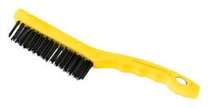 Rubbermaid Wire Brush with Short Plastic Handle in Grey RFG9B4100GRAY