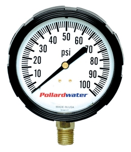 Thuemling Industrial Products Bourdon 2-1/2 in. 30 psi Bottom Mount Glycerine Pressure Gauge T4102118 at Pollardwater
