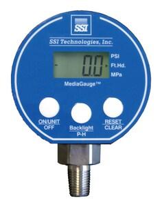 Pollardwater MediaGauge™ 3 in. 100 psi Range 231 ft. 1/4 in. FNPT Digital Altitude/Pressure Gauge SMG100APVF at Pollardwater