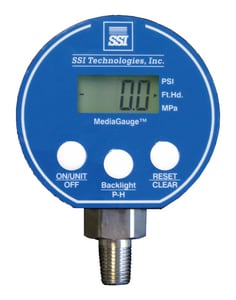 Pollardwater 3 in. Digital Pressure Gauge 1000 psi with 1-4 in. MNPT SMG1000A9V at Pollardwater