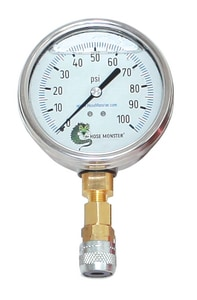 Hydro Flow Products 4 in. 60 psi Pressure Gauge 1/4 in. MNPT Liquid Filled HGKD4 at Pollardwater