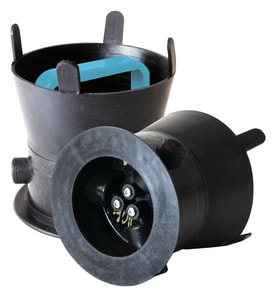 SW Services Debris Caps™ 5 to 5-1/2 in. Debris Cap with Blue Handle and Locking Bracket SDC455BLLD4 at Pollardwater