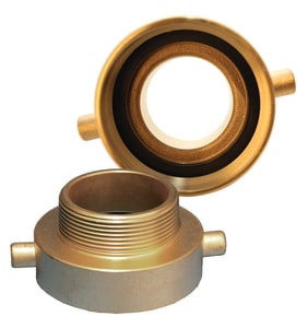 Dixon Valve & Coupling 1-1/2 in. FNST x 1-1/2 in. MNPSH Brass Hydrant Adapter Pin Lug DHA1515