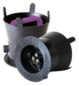 Debris Caps™ 6-3/4 DEBRIS Cap With Purple Handle & Lock SDC457PPLD4 at Pollardwater