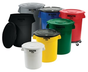 Rubbermaid Brute® 32 gal Container in Forest Green RFG263200DGRN at Pollardwater