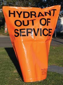 Pollardwater Hydrant Bag in Orange and Black PP69203 at Pollardwater