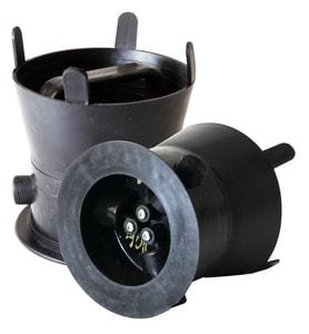 SW Services Debris Caps™ 5 to 5-1/2 in. Debris Cap with Black Handle and Locking Bracket SDC455BKLD4 at Pollardwater