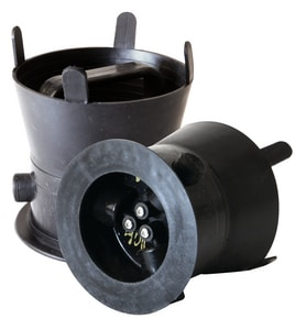 SW Services Debris Caps™ 5 to 5-1/2 in. Debris Cap with Black Handle and Locking Bracket SDC455BKLD4 at Pollardwater