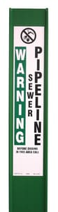 Repnet 3-Rail™ 66 in. Reinforced Green Marker Post with no Decal RFR66CG at Pollardwater