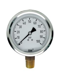 WIKA Bourdon 200 psi Pressure Gauge W50144022 at Pollardwater