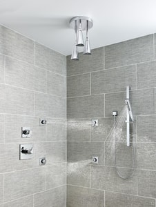 Delta Faucet Zura™ 4-1/2 in. Valve Trim with 3-Setting Diverter in Polished Chrome DT11874