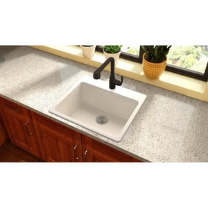 Elkay Quartz Luxe® 25 x 22 in. Composite Single Bowl Drop-in Kitchen Sink in Ricotta EELX2522RT0