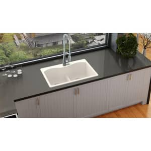 Elkay Quartz Luxe® 2-Bowl Self-rimming or Drop-in Kitchen Sink in Ricotta (Less Hole) EELXLB3322RT0