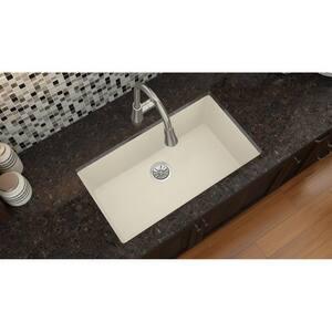 Elkay Quartz Luxe® 33 x 18-7/16 in. Composite Single Bowl Undermount Kitchen Sink in Parchment EELXRU13322PA0