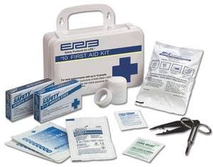 ERB Safety 10-Person First Aid Kit in White ERB Safety E17130