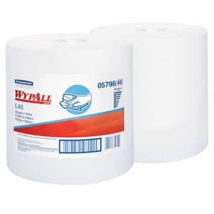 Kimberly Clark WypAll® L40 13-1/5 x 10 in. Wipes in White (Case of 2) K05796