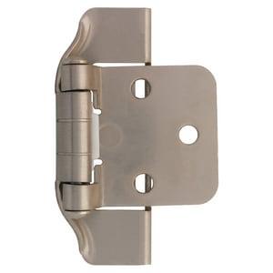 Liberty Hardware 1-7/20 in. Semi-Wrap Overlay Hinge in Satin Nickel 1 Pair LH01915CSNO