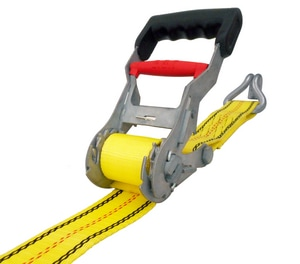 USA Products 27 ft. Step Release Ratchet Tie Down with J-Hook U310001