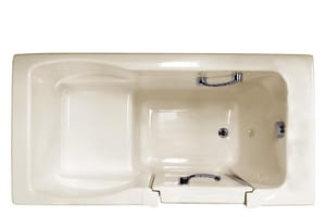JACUZZI® Finestra® 60 x 30 in. Acrylic Rectangle Alcove Bathtub with Left Drain in Almond JFIN6030BLXXXXA